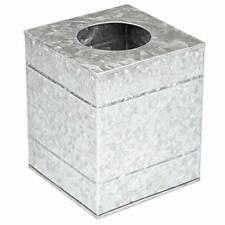 Ilyapa Tissue Box Cover Square - Rustic Galvanized Metal Tissue Box Holder