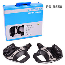 Pack of Road Bike Shimano PD R550 SPD SL Clipless Road Pedals + 6° Float Cleats