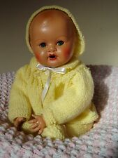 """Vintage doll marked H S 8/35, pot head, composition hands. Approx 14"""" tall"""