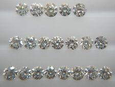 1.7mm 0.40cts 20pc Natural Loose Brilliant Cut Diamond SI Clarity H-I Color