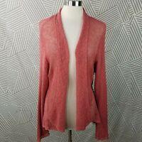 Eileen Fisher Plus Size 3X 22/24 Linen Knit Open Front Cardigan Sweater Jacket