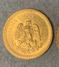 Mexico Gold 2 1/2 Pesos Coin (Au) .0603 oz Gold 1945