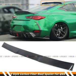 FOR 2017-21 INFINITI Q60 CARBON FIBER JDM VQ STYLE REAR WINDOW ROOF SPOILER WING