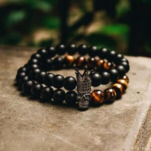 Stone Beads Bracelet Men Accessories Handmade Braclets