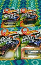 NEW RELEASE HOT WHEELS FATHERS DAY COMPLETE SET OF 4  NEW EXCLUSIVE SET HTF RARE