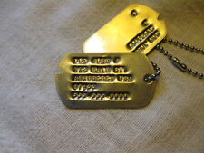 ww2 custom notched military dog tags