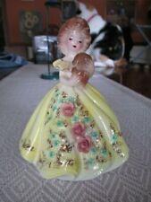 Vintage Josef Originals Girl Figurine - Yellow Dress with Puppy