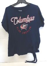 Columbus Blue Jackets Womens Maternity M Touch Down Tie Tee Shirt 151