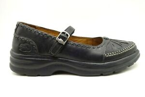 Dr Comfort Paradise Black Leather Casual Comfort Mary Jane Shoes Women's 8 M