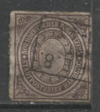 1868 German States North German Confederation ½ Sch. issue used, $ 87.00