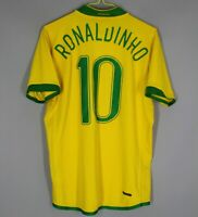 BRAZIL NATIONAL TEAM 2006/2008 HOME FOOTBALL SHIRT JERSEY CAMISETA RONALDINHO 10