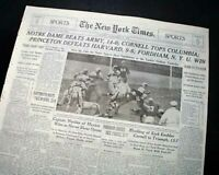 NOTRE DAME FIGHTING IRISH vs. Army Cadets NCAA College Football 1939 Newspaper