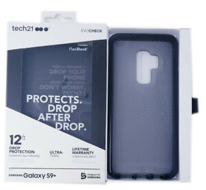 Tech21 EVOCHECK Case Cover Clear Smoke Gray G965 THIN For Samsung Galaxy S9 Plus