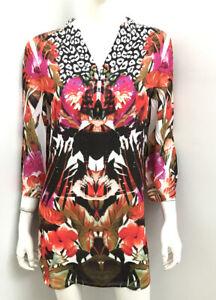 SEVEN SISTERS symmetry silk touch polyester shirt ~ sz 1 (8 10)