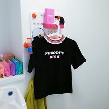 unif 'nobodys bish' top, grunge lazy oaf harajuku urban outfitters topshop