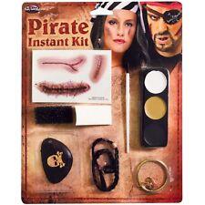 Piraten Instant Make-Up Set Herren Damen Piraten Kostüm Zubehör Set