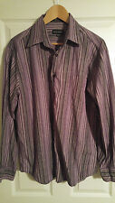 Men's Michael Brandon, Casual, Long Sleeve, Shirt, Purple, XL, 17/17.5
