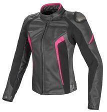 LADIES/WOMEN Motorbike/Motorcycle Racing Jacket Cowhide Leather Jacket Racer