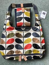 BNWT Orla Kiely Classic Multi Stem Baby Changing Bag & Mat RRP £155