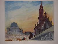 "GEORG ANDREAS SPECK , 1904 MAGDEBURG - 1978 BERLIN. "" DOMRESTAURIERUNG BERLIN ""."