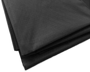 Black Waterproof Rip Stop Ripstop Fabric Nylon Look Material Cover 150cm Wide