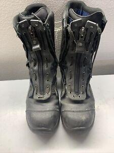 Haix Firefighter Boots Mens Sz 13 Black Crosstech Steel Toe