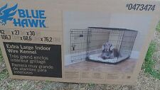 "Blue Hawk Extra Large Indoor Wire Dog Kennel 42"" x 27"" x 30"" 70-90 lbs"