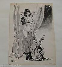 Originalzeichnung erotisches Pin-up Zeichner Jordi Buxade