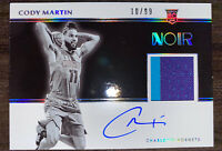2019-20 Panini Noir Cody Martin Rookie Patch Auto RPA RC #10/99 Cha Hornets!!!