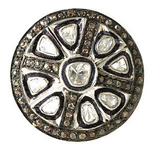 VICTORIAN STYLE ROSE CUT 22K 925 1.25 CT DIAMOND RING, SIZE 6