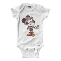Infant Gerber Onesies Bodysuit Baby Shower Gift Clothes Hipster Mickey Mouse