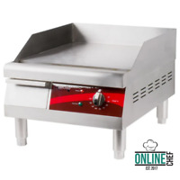 "16"" Electric Commercial Countertop Steel Flat Top Griddle Grill 120V 1750W Cook"
