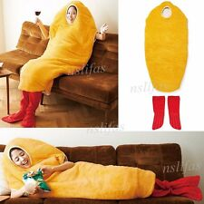 Fried Shrimp Cosplay Onesie mascot Costume Warm Sleeping Bag Blanket Xmas gift