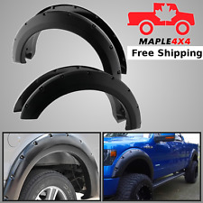 09-14 FORD  F150 Pocket-Riveted Style Black Fender Flares 4pcs Set