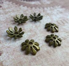 Antique Bronze 8 petal Bead Cap  - 50 pcs
