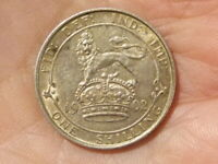 1902 Edward VII Shilling Silver Coin High Grade #A47