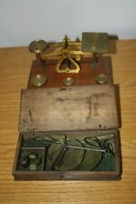 Antique Apothecary Portable Scales & Postal Scales plus Weights