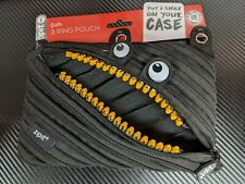 ZIPIT Monster Pencil Case - Black (with gold teeth)