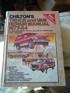 Chilton's Truck & Van Repair Manual 1977-84 HARDBACK