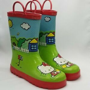 Sanrio Hello Kitty Rain Boots Girls Size 2 Scenic Red Western Chief NwoT