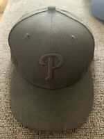 Official Philadelphia Phillies New Era NFL Black 59FIFTY Hat 7 5/8