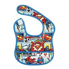 Waterproof Baby infant Bib DC Comics Superman Superhero Batman Fun Easy Wipe