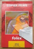 FOLEX OHP/ COPIER FILM / ACETATE - 100 MICRON - A4: 5 Sheets...............(aj)