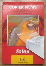 FOLEX OHP/ COPIER FILM / ACETATE - 100 MICRON - A4: 5 Sheets...............(ad)
