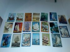 21 Single Swap Playing Cards Sailboats Boats Vintage