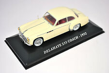 Voiture modèle réduit collection 1/43ème Delahaye 235 Coach de 1952