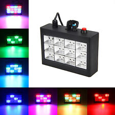 12 RGB LED Disco Party DJ Club Strobe Laser Light Sound Activated Stage Effect
