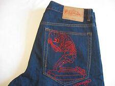 ED HARDY by Christian Audigier Mens SKULL Pray Designer Signature Shorts Size 36