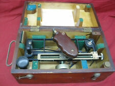 1942 WWII U.S. Maritime Commission Schick Sextant Type Stadimeter in Case