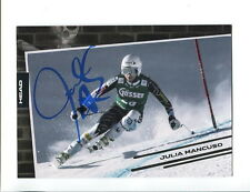 JULIA MANCUSO HAND SIGNED 4x6 COLOR PHOTO+COA      GORGEOUS OLYMPIC SKIIER